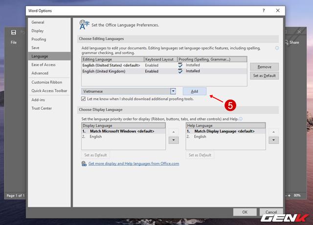 Cách thay đổi ngôn ngữ hiển thị của Microsoft Office 2019 - Ảnh 6.