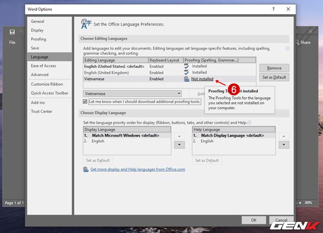 Cách thay đổi ngôn ngữ hiển thị của Microsoft Office 2019 - Ảnh 7.