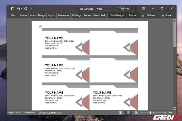 Cách tạo danh thiếp bằng Microsoft Word dành cho người không chuyên - Ảnh 1.