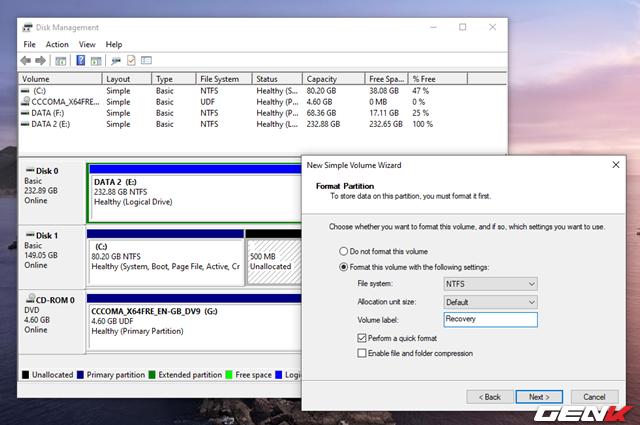 Cách tự tạo phân vùng Recovery để khắc phục các sự cố khi cần trên Windows 10 - Ảnh 18.