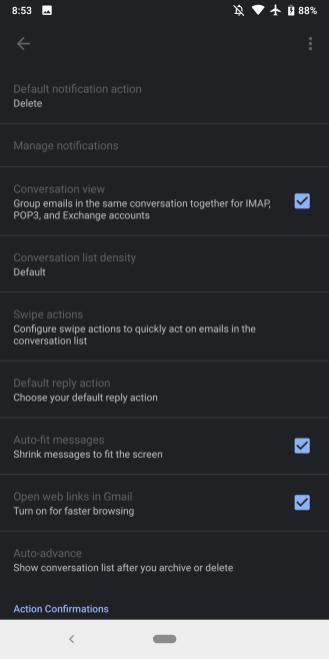 Ứng dụng Gmail trên Android được cập nhật giao diện Dark Mode - Ảnh 1.