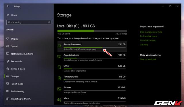 Reserved Storage trên Windows 10 May 2019 là gì? Có nên vô hiệu hóa nó hay không? - Ảnh 5.