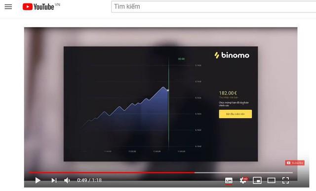 Bị Google cấm, quảng cáo của Binomo vẫn tràn lan trên Youtube - Ảnh 1.