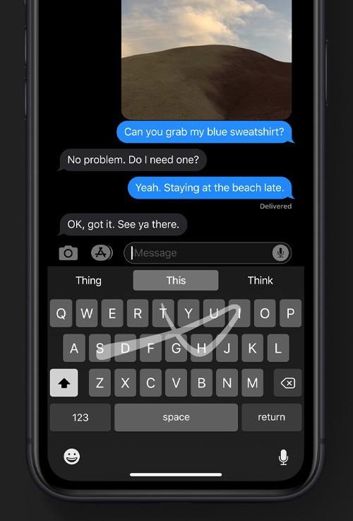 Apple đưa tính năng vuốt ngón tay trên bàn phím để nhập văn bản lên iOS 13 - Ảnh 2.