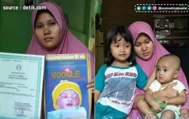 """Thích sự độc lạ, một gia đình tại Indonesia quyết định đặt tên con là """"Google"""" - Ảnh 1."""
