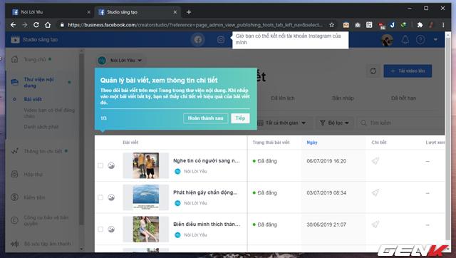 """Quản lý nhiều Facebook Page hiệu quả hơn với công cụ """"chính chủ"""" Facebook Studio - Ảnh 10."""