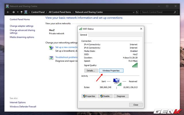 Cách xem và thay đổi mật khẩu Wi-Fi đã kết nối trên máy tính Windows 10 - Ảnh 6.