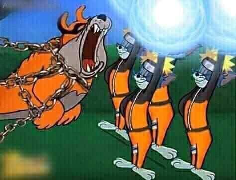 Chết cười Naruto phiên bản Tom và Jerry, Cửu Vĩ ăn đòn đến ngất xỉu rồi bị phong ấn - Ảnh 4.