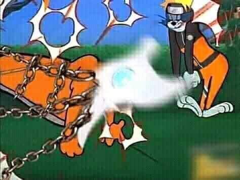 Chết cười Naruto phiên bản Tom và Jerry, Cửu Vĩ ăn đòn đến ngất xỉu rồi bị phong ấn - Ảnh 5.