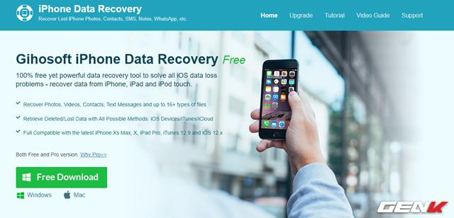 Cách khôi phục các dữ liệu đã xóa trên iPhone - Ảnh 2.