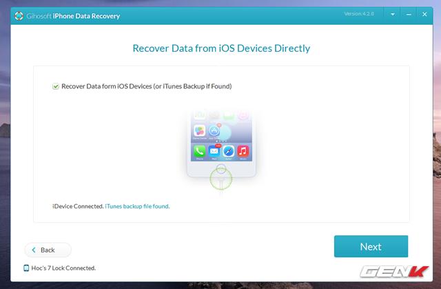 Cách khôi phục các dữ liệu đã xóa trên iPhone - Ảnh 6.