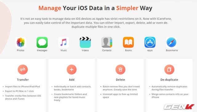 Quản lý dữ liệu iPhone trên Windows hiệu quả và toàn diện hơn với iCareFone - Ảnh 1.