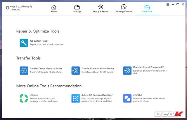 Quản lý dữ liệu iPhone trên Windows hiệu quả và toàn diện hơn với iCareFone - Ảnh 13.