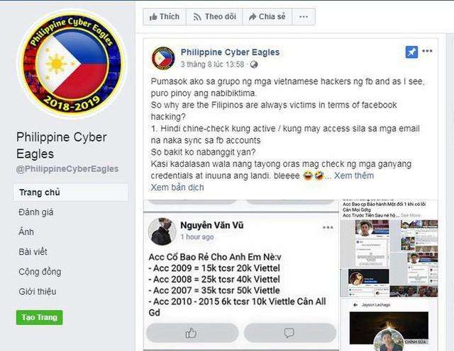 Hacker Phillippines tấn công web Việt Nam, trả đũa việc bị mất Facebook - Ảnh 2.