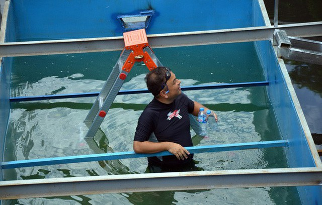 Cận cảnh chuyên gia Nhật Bản tắm nước sông Tô Lịch - Ảnh 2.