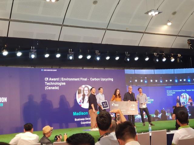 Startup biến khí CO2 thành vật liệu xây dựng, giảm thiểu khí thải tương đương loại 28 triệu ô tô ra khỏi giao thông giành giải nhất của ƠI Award - Ảnh 8.