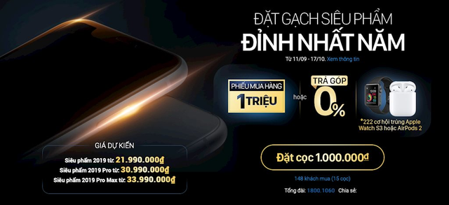 Nhà bán lẻ tại Việt Nam bắt đầu cho đặt trước iPhone 11 - Ảnh 1.