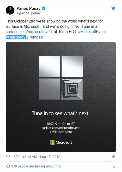 Microsoft gửi thư mời cho sự kiện Surface diễn ra vào đầu tháng 10 tới, hứa hẹn mang lại nhiều phần cứng và trải nghiệm mới - Ảnh 1.