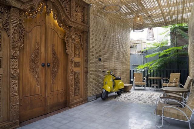 Ngôi nhà mộc đẹp mê hoặc nhờ nghệ thuật xếp gạch tuyệt tác - Ảnh 12.
