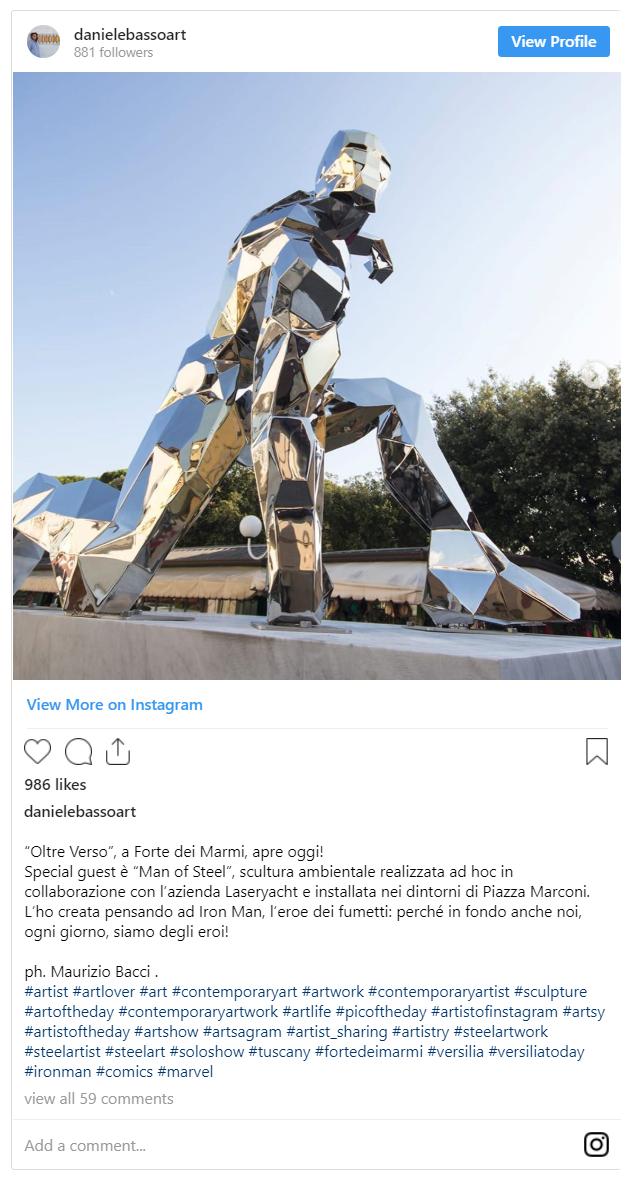 Xuất hiện một bức tượng kim loại để tưởng nhớ Iron Man tại Ý - Ảnh 2.
