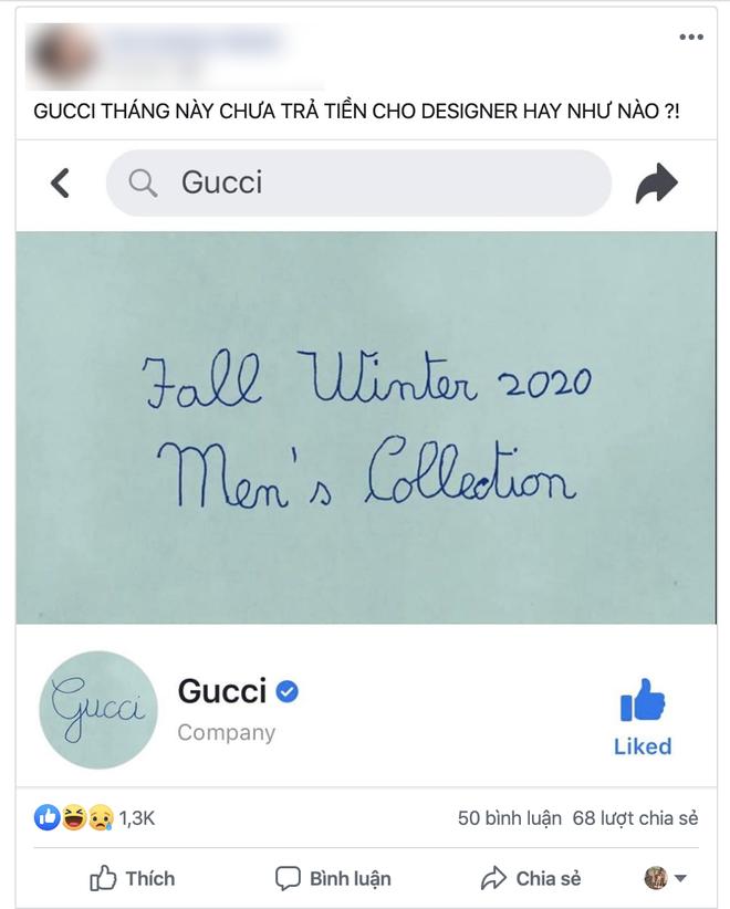 """Gucci """"chơi lầy"""" treo avatar và cover viết nguệch ngoạc, dân tình bình luận: Chắc designer nghỉ Tết rồi! - Ảnh 4."""