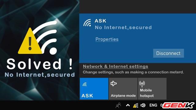"""Khắc phục lỗi hiển thị thông báo """"No Internet, Secured"""" gây khó chịu trên Windows 10 - Ảnh 1."""