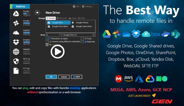 Biến đám mây thành ổ đĩa trên Windows 10 với RaiDrive - Ảnh 2.