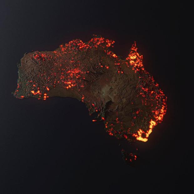 Thực hư về tấm hình cháy rừng đại thảm họa biến nước Úc thành biển lửa đang gây bão cộng đồng mạng - Ảnh 3.