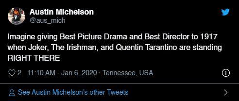 """Quả cầu vàng 2020: Fan """"cay cú"""" khi Joker để tuột giải vào tay một bộ phim còn chưa công chiếu - Ảnh 13."""