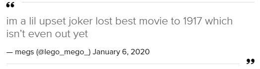 """Quả cầu vàng 2020: Fan """"cay cú"""" khi Joker để tuột giải vào tay một bộ phim còn chưa công chiếu - Ảnh 5."""