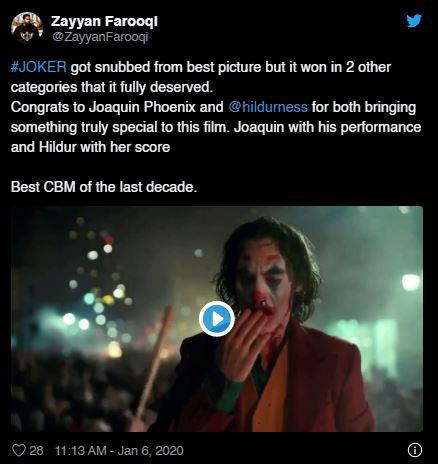 """Quả cầu vàng 2020: Fan """"cay cú"""" khi Joker để tuột giải vào tay một bộ phim còn chưa công chiếu - Ảnh 3."""