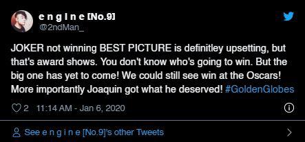 """Quả cầu vàng 2020: Fan """"cay cú"""" khi Joker để tuột giải vào tay một bộ phim còn chưa công chiếu - Ảnh 10."""