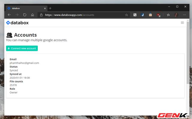 Quản lý cùng lúc nhiều tài khoản Google Drive với Databox - Ảnh 7.