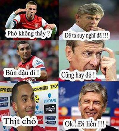 Ảnh chế hài hước Arsenal sang Việt Nam 1