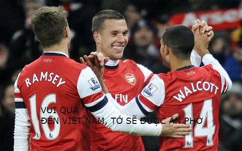 Ảnh chế hài hước Arsenal sang Việt Nam 2