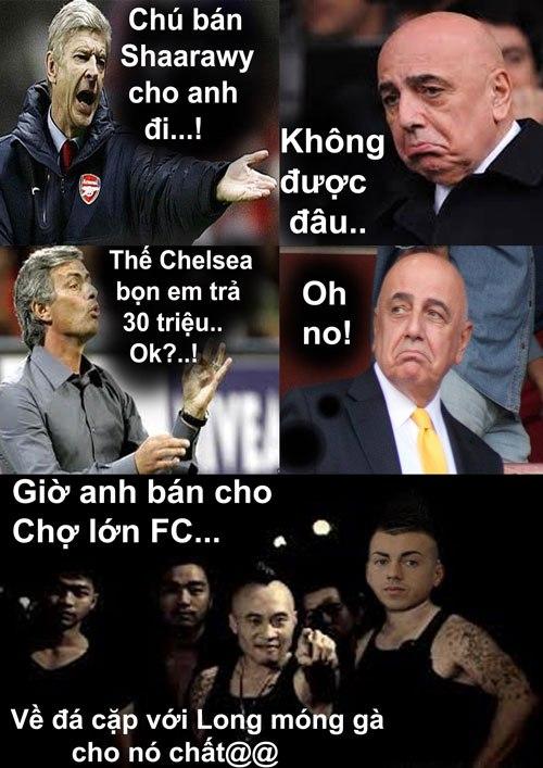Ảnh chế hài hước Arsenal sang Việt Nam 3