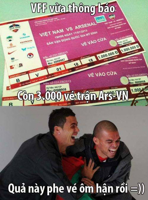 Ảnh chế hài hước Arsenal sang Việt Nam 5