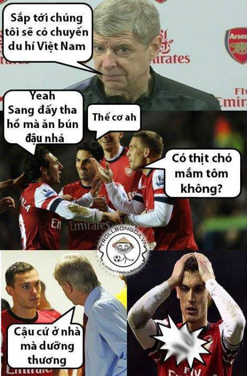 Ảnh chế hài hước Arsenal sang Việt Nam 9
