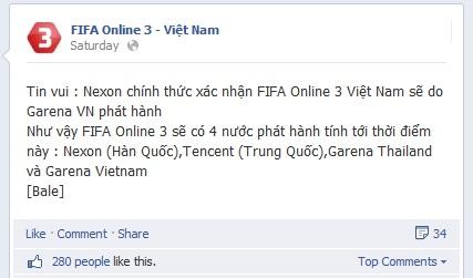Rộ tin đồn hãng Nexon xác nhận Fifa Online 3 đã về tay Garena Việt Nam 1