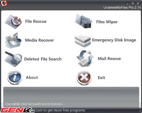 UndeleteMyFiles Pro: Khôi phục dữ liệu với nhiều tính năng hữu ích 1