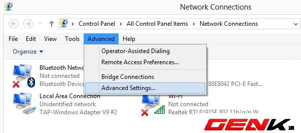 """Mẹo nhỏ """"bắt"""" Windows dùng mạng dây thay vì WiFi 1"""