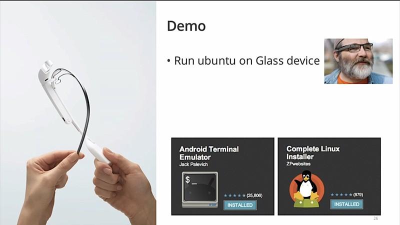 Google Glass được root để chạy Ubuntu 7
