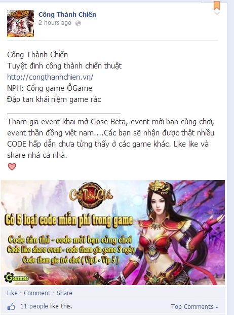 Bất ngờ xuất hiện game Công Thành Chiến tại Việt Nam 2