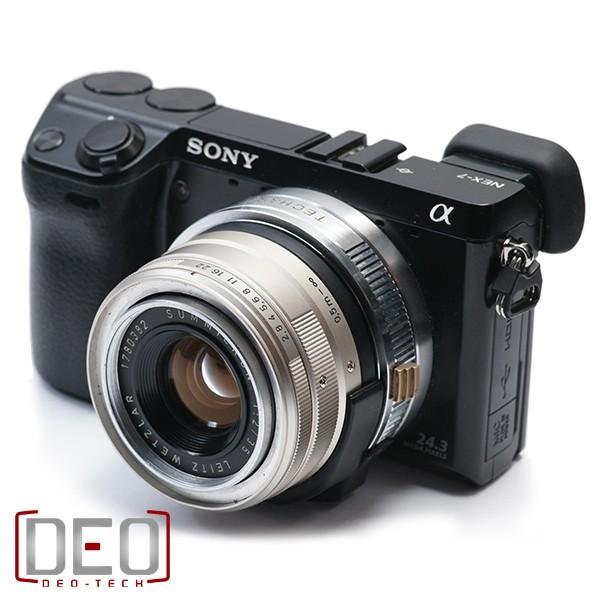 Ngàm tự chế giúp ống kính Leica dùng được trên máy Sony NEX 1