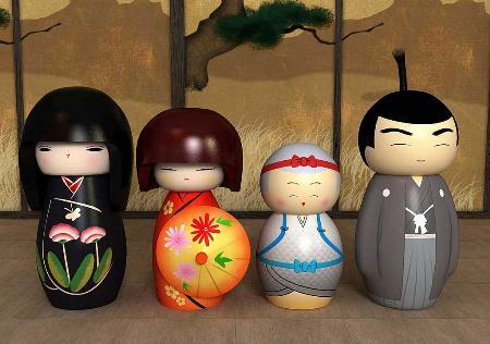 Tìm hiểu về Kokeshi - Búp bê gỗ Nhật Bản 2