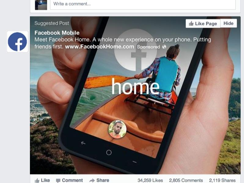 Facebook Home là mối đe dọa thực sự của Google 1