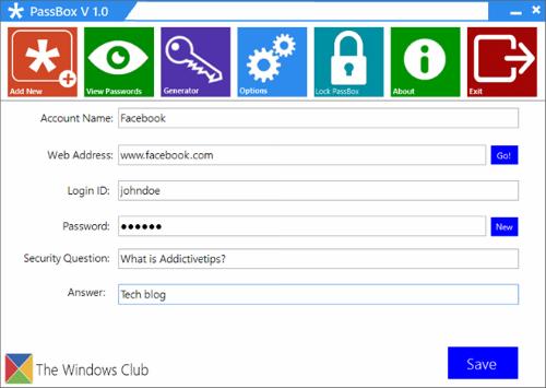 Quản lý mật khẩu trên Windows với PassBox 2