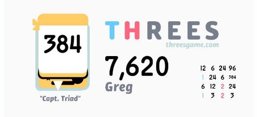Threes - Game kết hợp tuyệt vời giữa giải đố và những con số 1