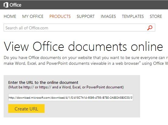 Xem các tài liệu Office trực tuyến thông qua dịch vụ của Microsoft 2