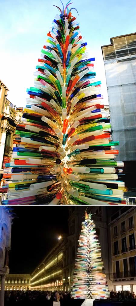 Lớn nhất thế giới Murano Glass Christmas Tree (Italy)